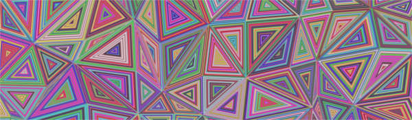 Multicoloured abstract pattern showing multiple triangles connected to each other