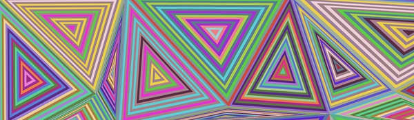 Image of multicoloured triangles indicating complexity