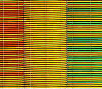 Image of multicoloured woven fabric: warm shades