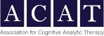 Dark blue and white logo for Association for Cognitive Analytic Therapy