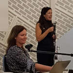 Image of Karen Shannon and Marisol Cavieres presenting about their 6 month CAT Skills training course