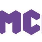 purple lettering YMCA on a white background